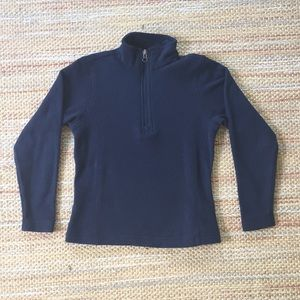 Lands' End Navy Half Zip Fleece Pullover - Girls M